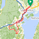 Map image of a Trip from June 23, 2019