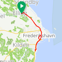 Map image of a Trip from June 25, 2019
