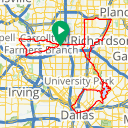 Map image of a Trip from March  1, 2015