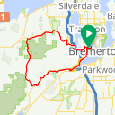 Map image of a Trip from November 25, 2019