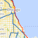 Map image of a Trip from March 15, 2015