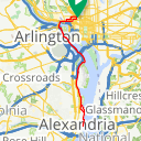Map image of a Trip from March 21, 2015