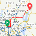 Map image of a Trip from March 22, 2015