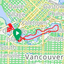 Map image of a Trip from March 28, 2015