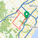 Map image of a Trip from April  3, 2015