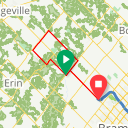 Map image of a Trip from April 12, 2015