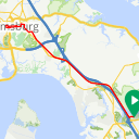 Map image of a Trip from April 17, 2015