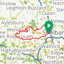 Map image of a Trip from May  5, 2015