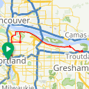 Map image of a Trip from May  7, 2015