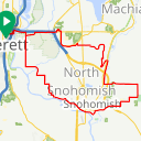 Map image of a Trip from May 27, 2015