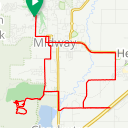Map image of a Trip from May 30, 2015