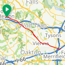 Map image of a Trip from June  8, 2015