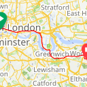 Map image of a Trip from June 29, 2015