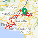 Map image of a Trip from July 11, 2015