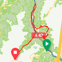 Map image of a Trip from July 19, 2015