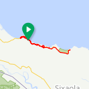 Map image of a Trip from July 20, 2015