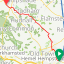 Map image of a Trip from July 28, 2015