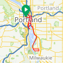 Map image of a Trip from July 31, 2015