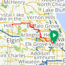 Map image of a Trip from August 17, 2015