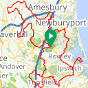 Map image of a Trip from August 19, 2015