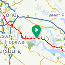 Map image of a Trip from October 17, 2015