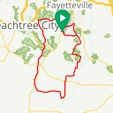 Map image of a Trip from October 24, 2015
