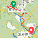 Map image of a Trip from October 31, 2015