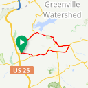 Map image of a Trip from November  2, 2015
