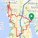Map image of a Trip from November 26, 2015