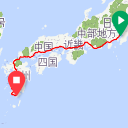 Map image of a Trip from January  2, 2016