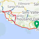 Map image of a Trip from January  1, 2016