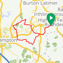 Map image of a Trip from January 10, 2016