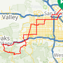 Map image of a Trip from January 17, 2016