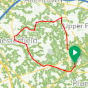 Map image of a Trip from January 27, 2016