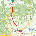 Map image of a Trip from February 17, 2016