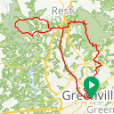 Map image of a Trip from February 29, 2016