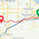 Map image of a Trip from March 10, 2016