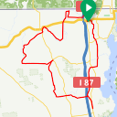Map image of a Trip from March 11, 2016