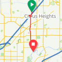 Map image of a Trip from March 14, 2016
