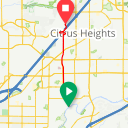 Map image of a Trip from March 17, 2016