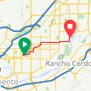 Map image of a Trip from March 25, 2016