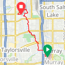 Map image of a Trip from June 14, 2016