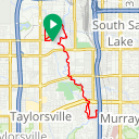 Map image of a Trip from June 18, 2016