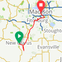 Map image of a Trip from July  4, 2016